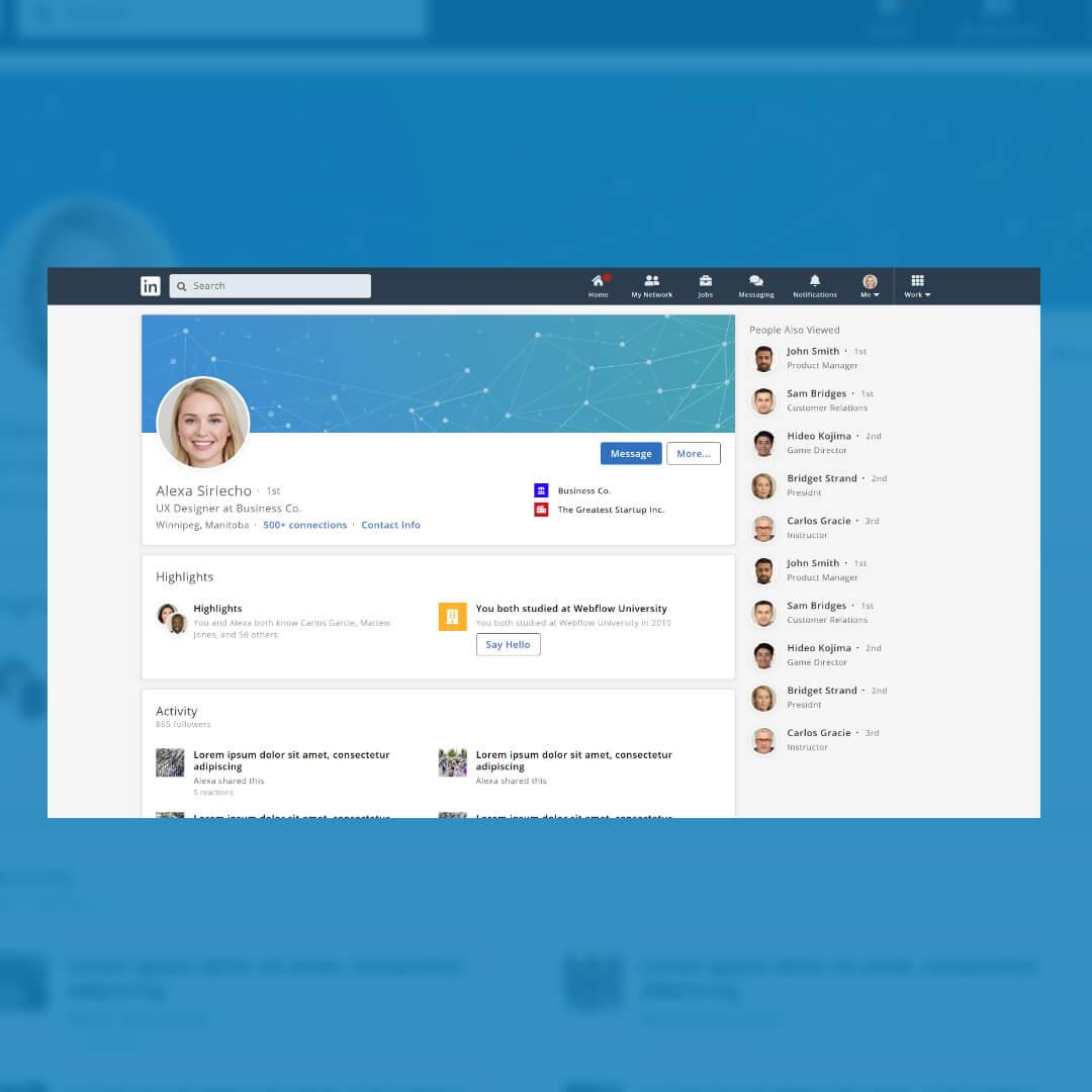 Image of LinkedIn Prototype by Christian Gilbang