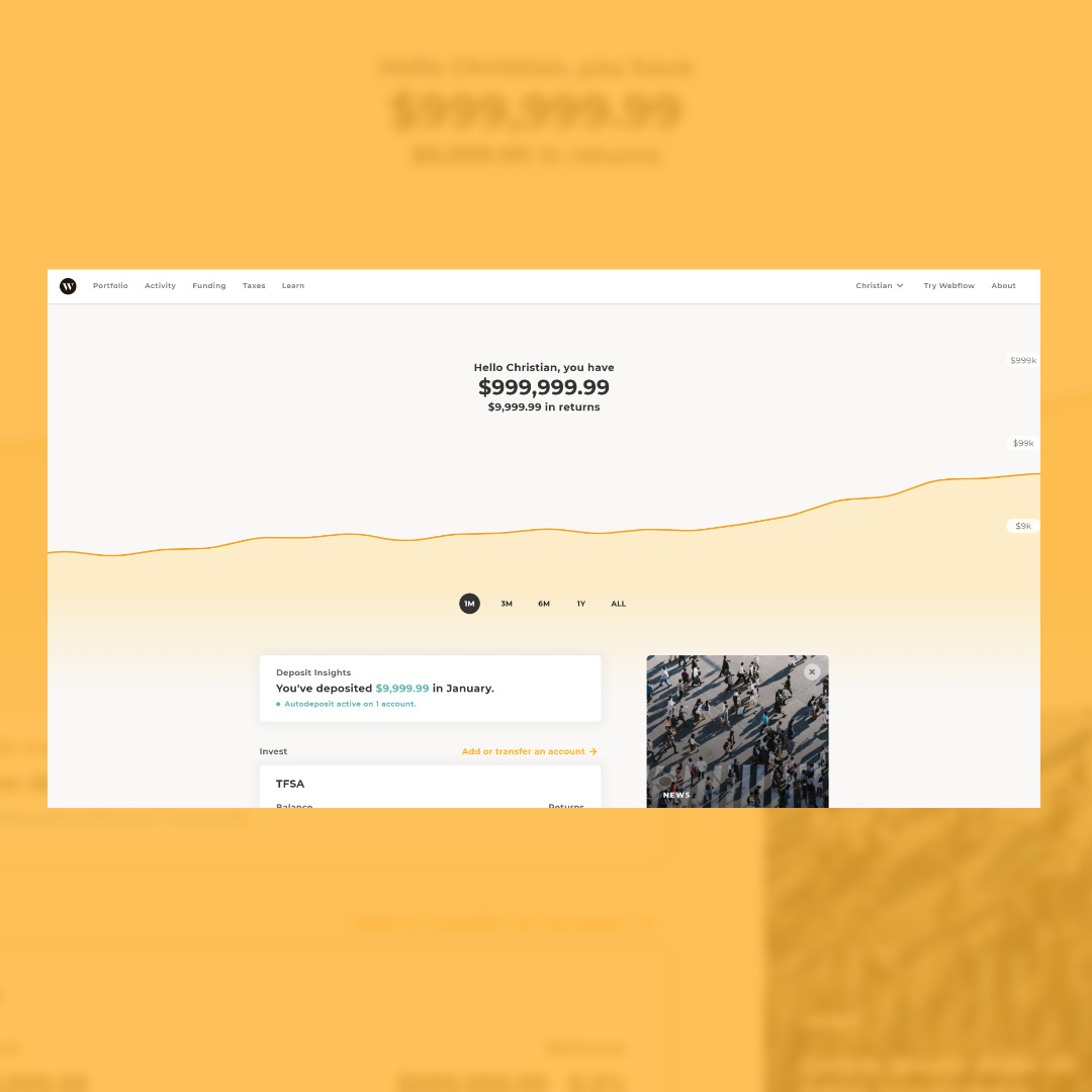 Image of Wealthsimple Prototype by Christian Gilbang