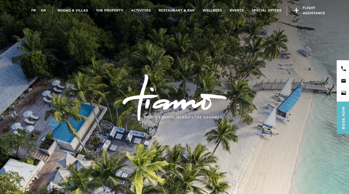 tiamo resorts project developed by evekayser webflow expert