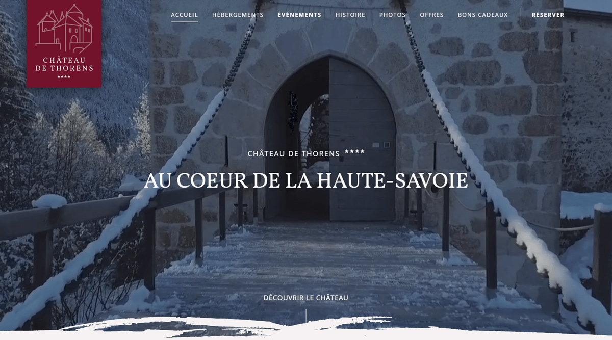 chateau project developed by evekayser webflow expert