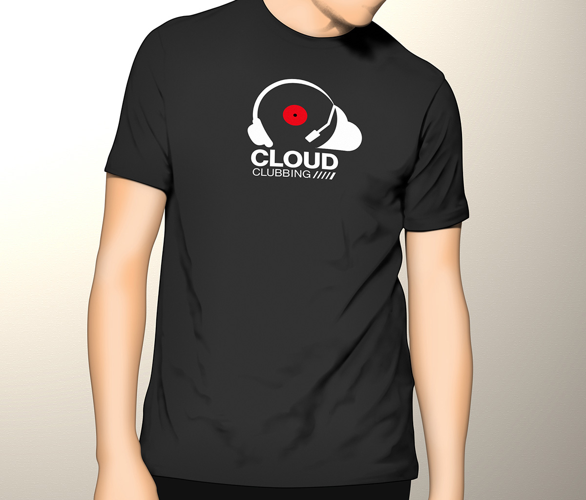 ZKM Cloud Clubbing T-Shirt Design