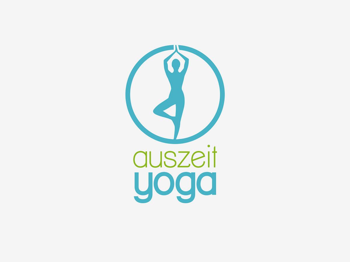 Auszeit Yoga Logo Design