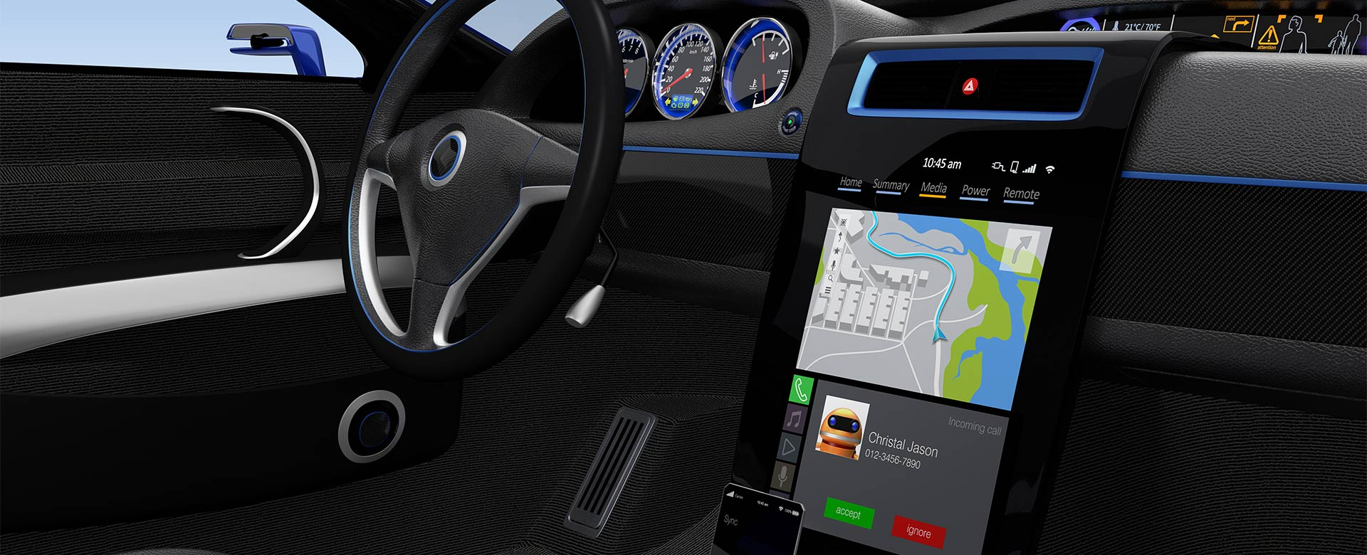 Interface Design Studie Automobil