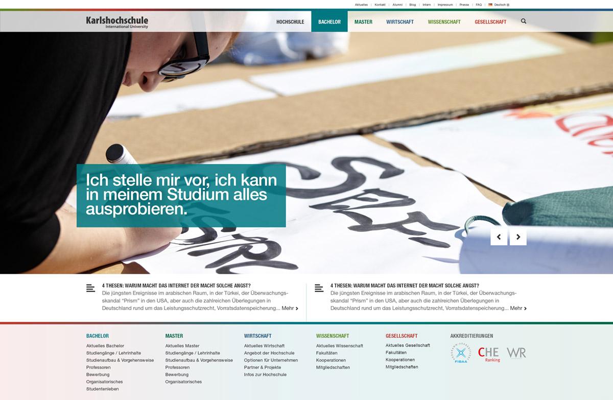 Karlshochschule Website