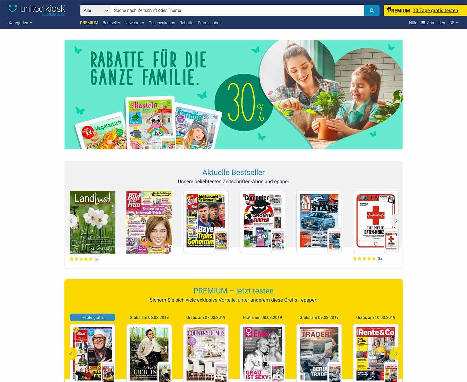 United Kiosk Betreuung Web-Plattform