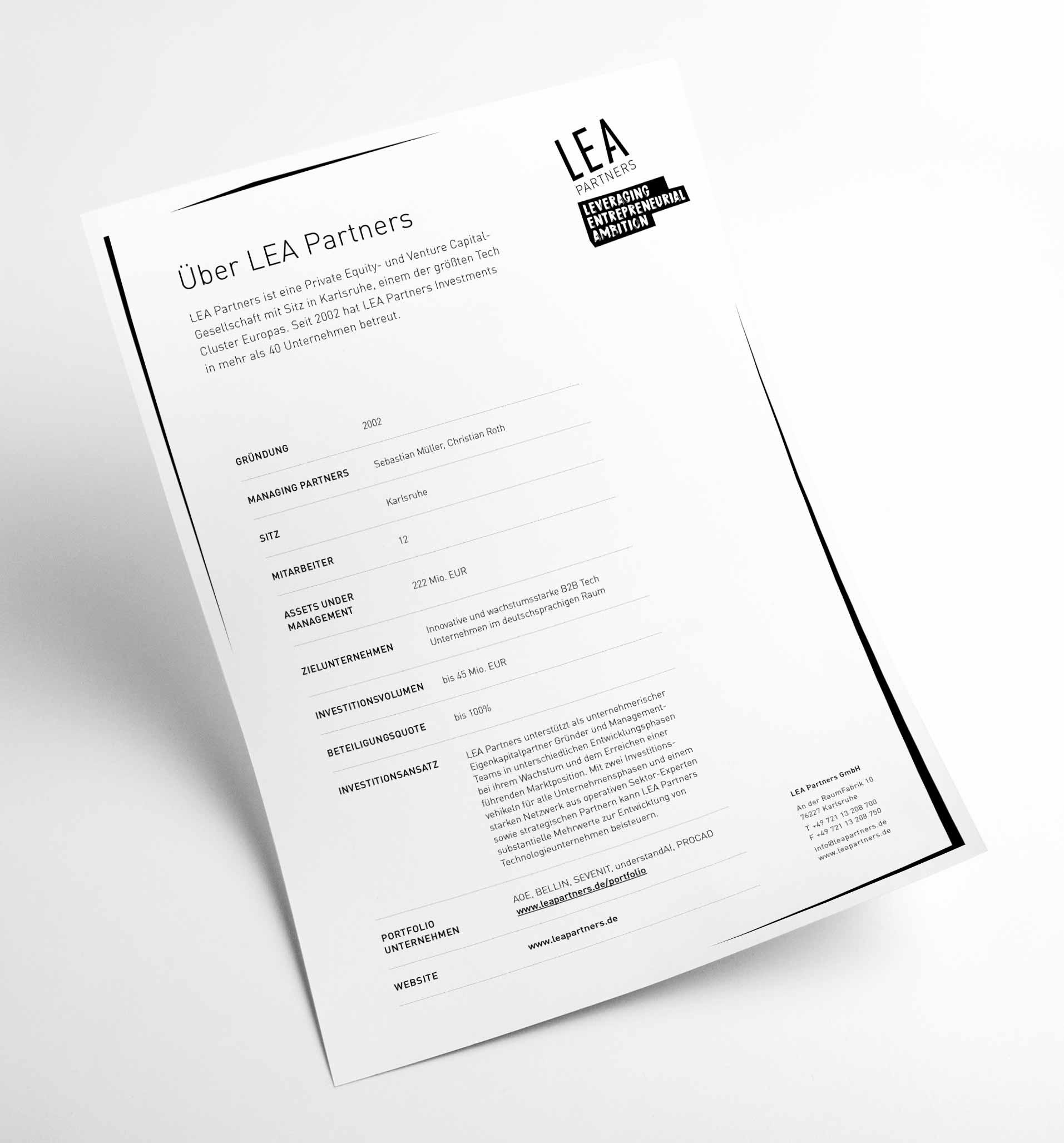LEA Partners Geschäftsausstattung