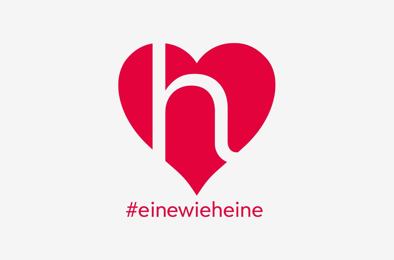 """Heine Logo Design """"eine wie heine"""""""