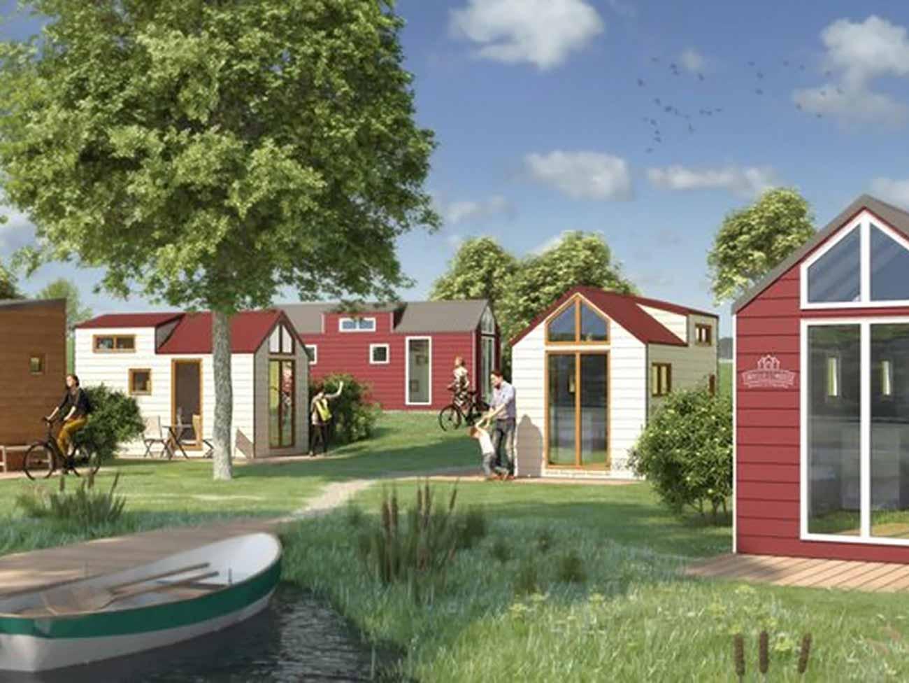 Bild –eine Tiny House Siedlung.