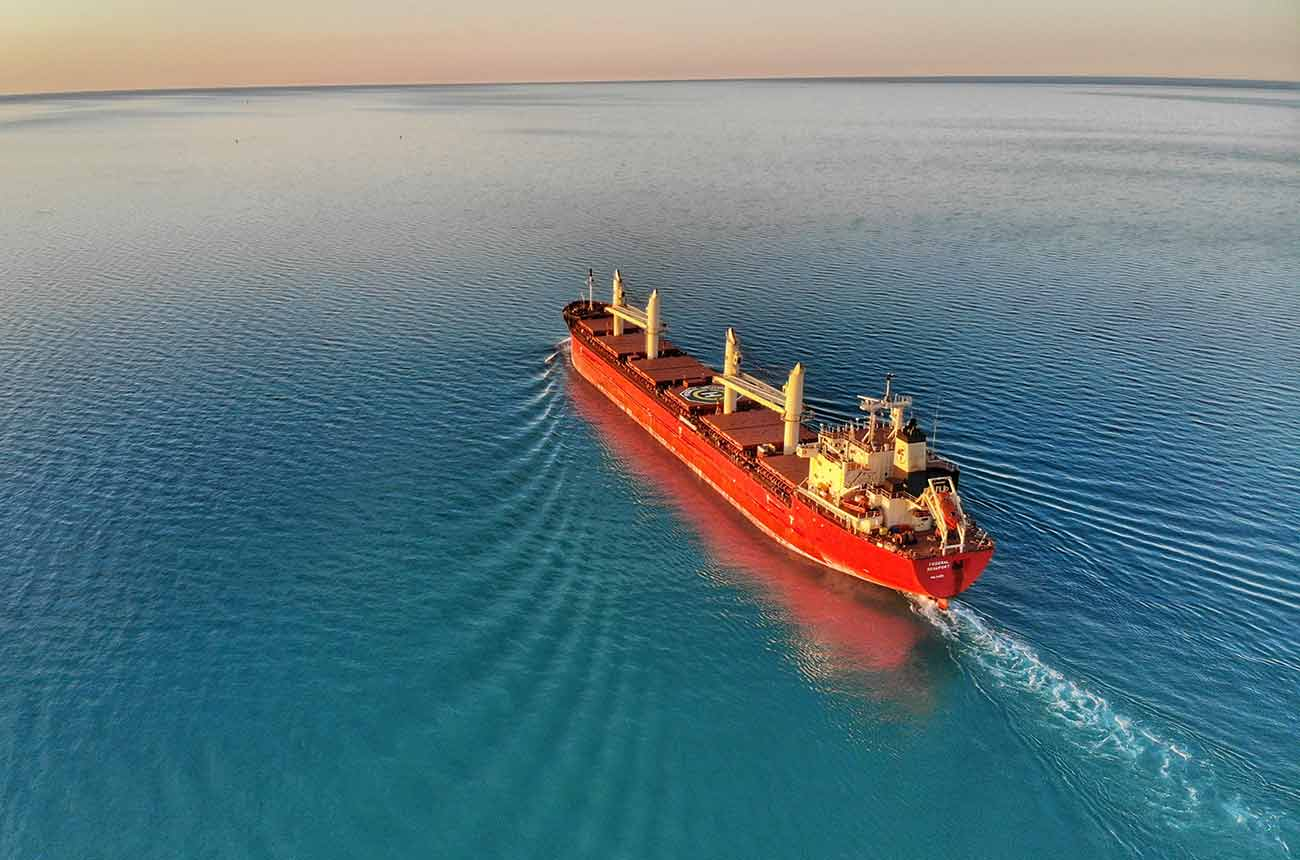 Bild – Frachtschiff auf dem Meer