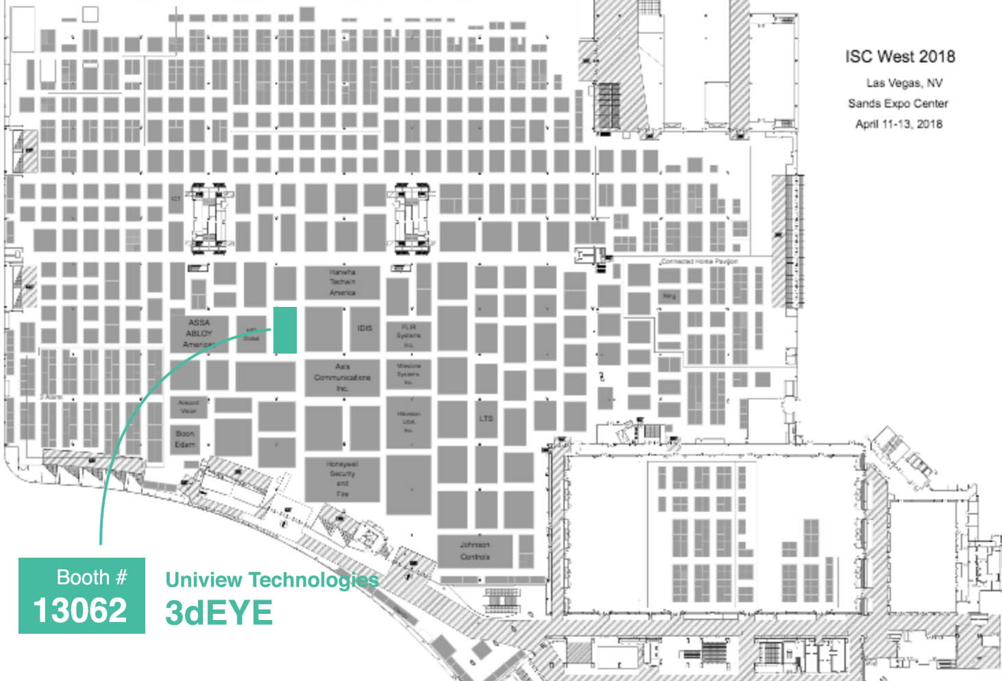 3dEYE Inc. will exhibit at the largest security trade show in North America - ISC WEST 2018 on April 11 – 13, 2018