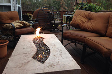 Beautiful concrete fire pit