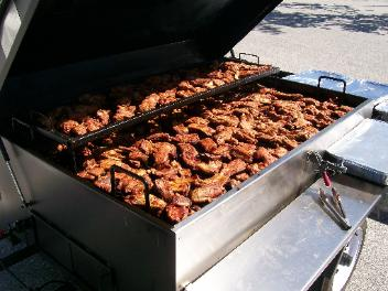 BBQ chicken on a grill