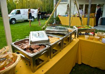 variety of hot food at an event