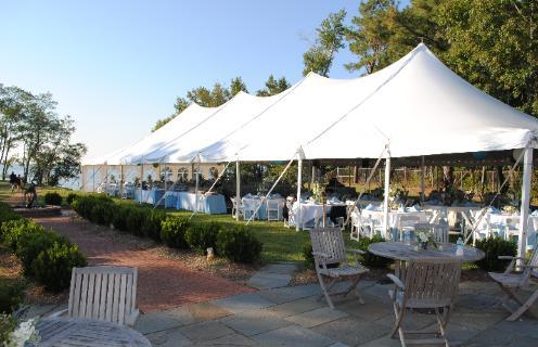 wedding set up outside