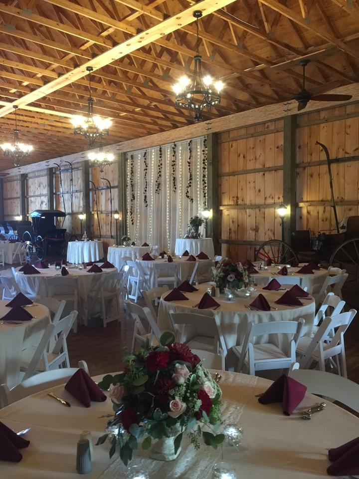 rustic wedding table set up
