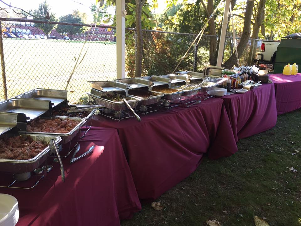 variety of BBQ at a catered event
