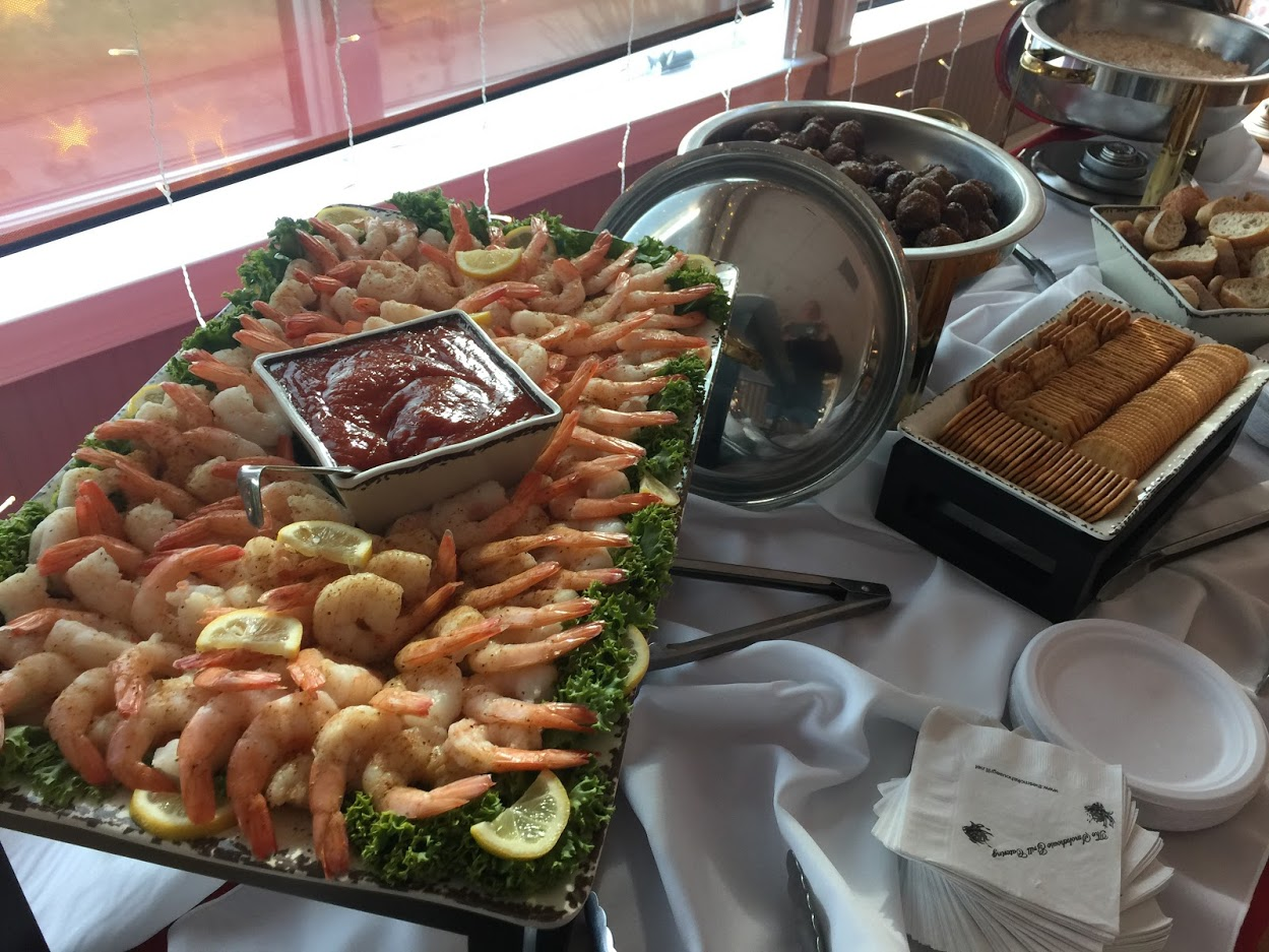 display of shrimp cocktail