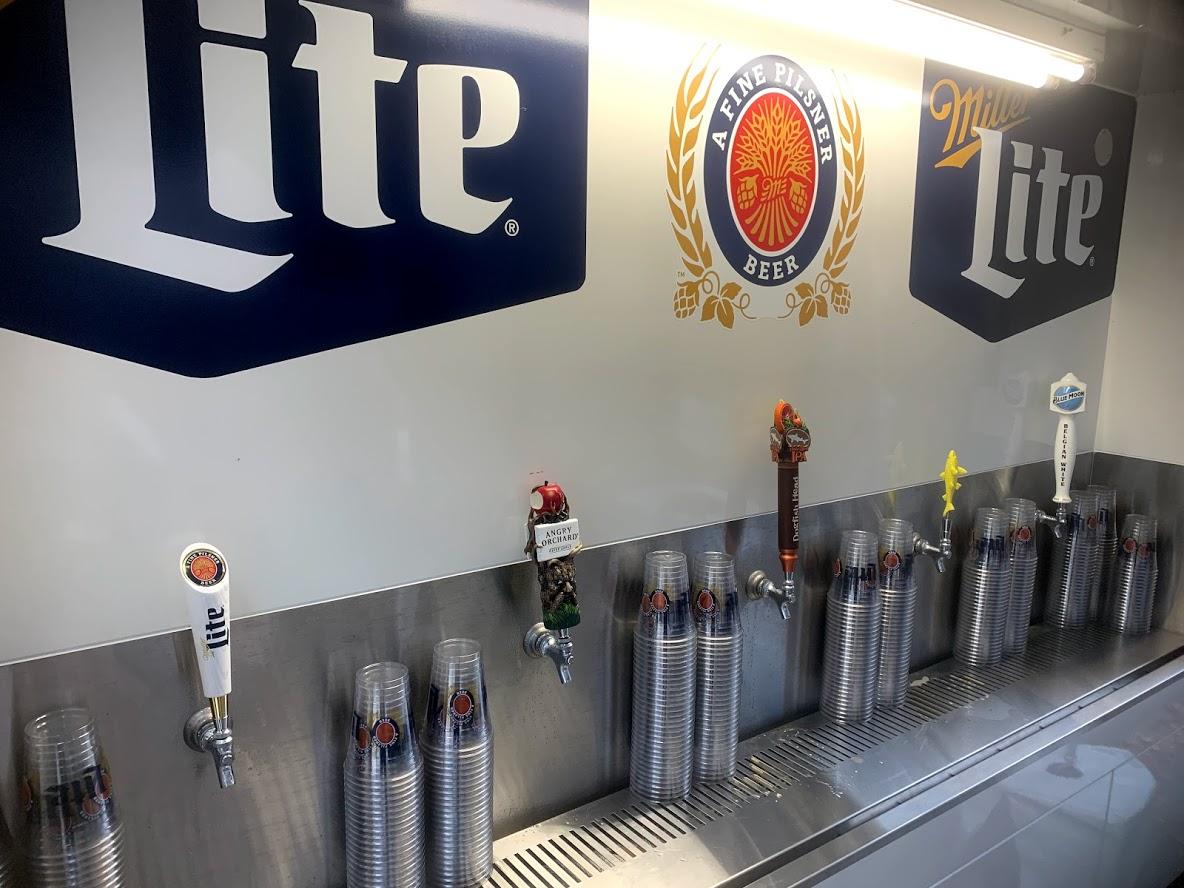 variety of beer on tap