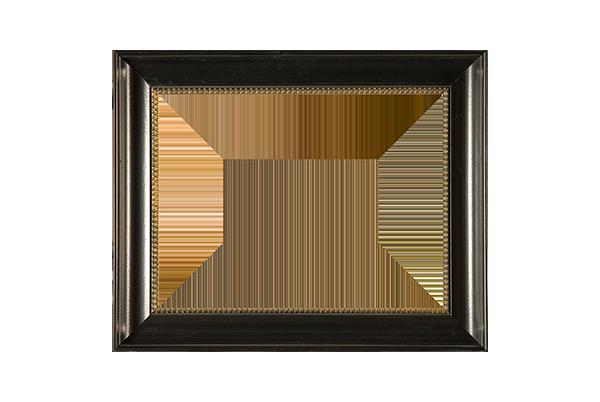 17e eeuws zwart hoekverwerkte lijst