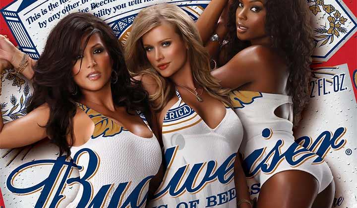 Publicité pour la bière Budweiser