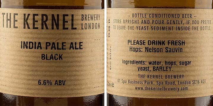 Etiquette de bière de la brasserie the Kernel