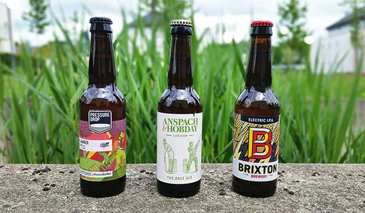 Les bières contenues dans la Maloan London craft beer box