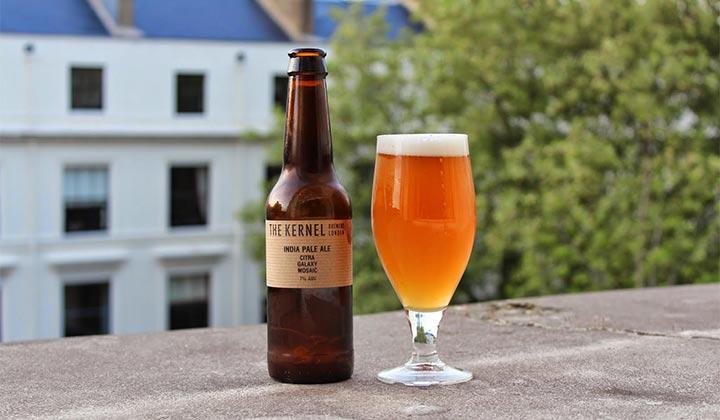 La bière IPA Citra Galaxy Mosaic de chez The Kernel
