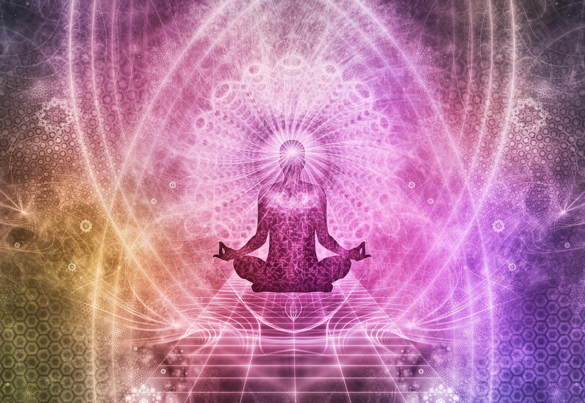 third eye chakra meditation illustration