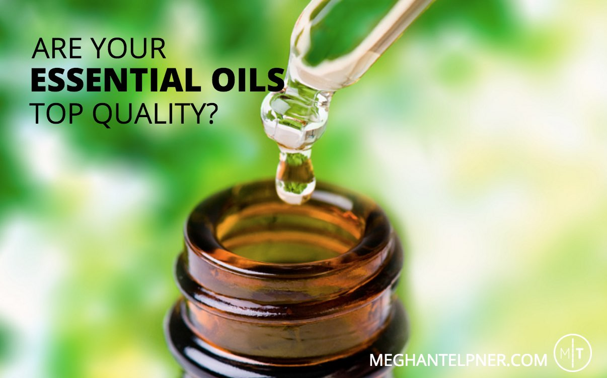 "Drop of oil ready to go into bottle ""Are your essential oils top quality?"""
