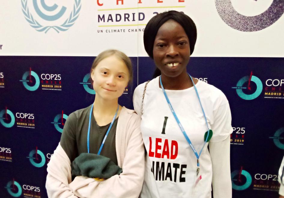 Image of Oladosu Adenike and Greta Thunberg.