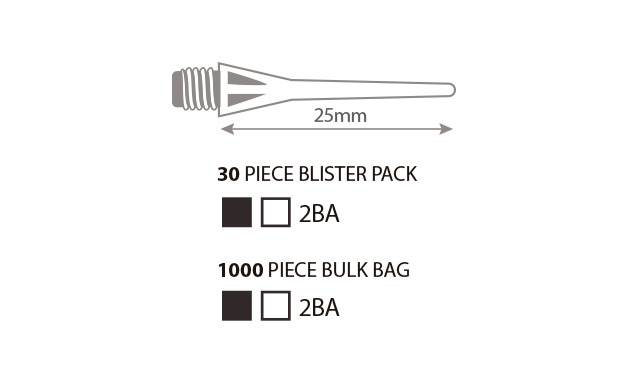 """1//4/"""" REPLACEMENT DART TIPS 1000 TO A BAG"""