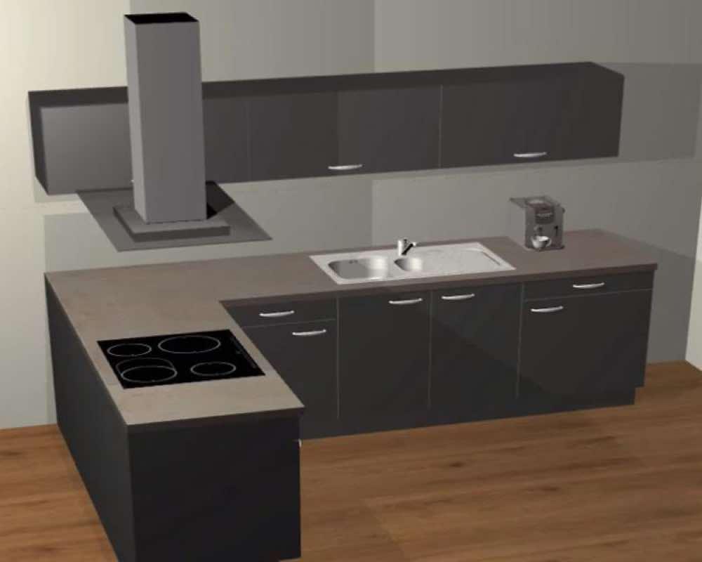Kostenloser 20D Online Küchenplaner – Küche und Raum