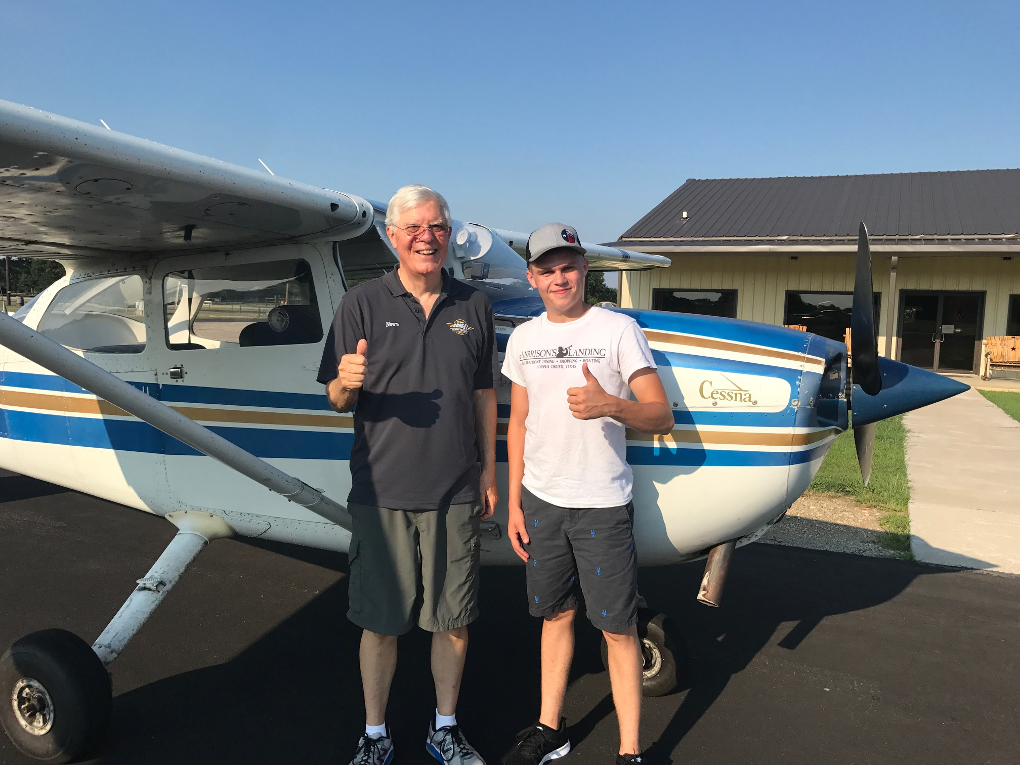 Photo of a flight student at flight training around Canton Texas