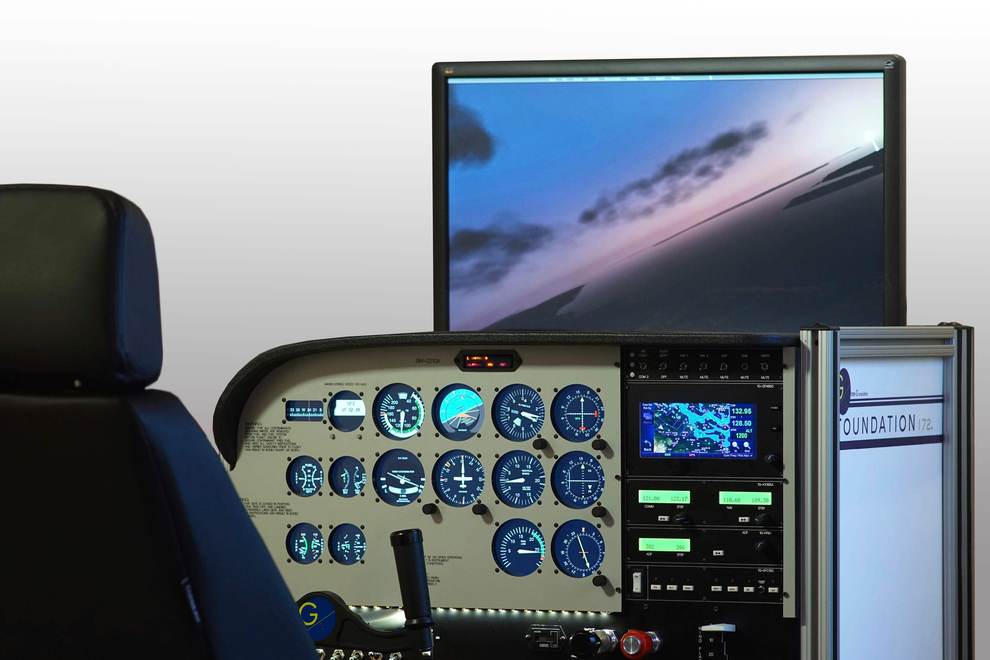 Photo of the state-of-the-art Code 1 flight simulator