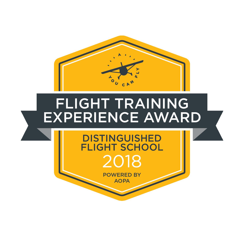 2018 Flight Training Experience Award - Distinguished Flight School