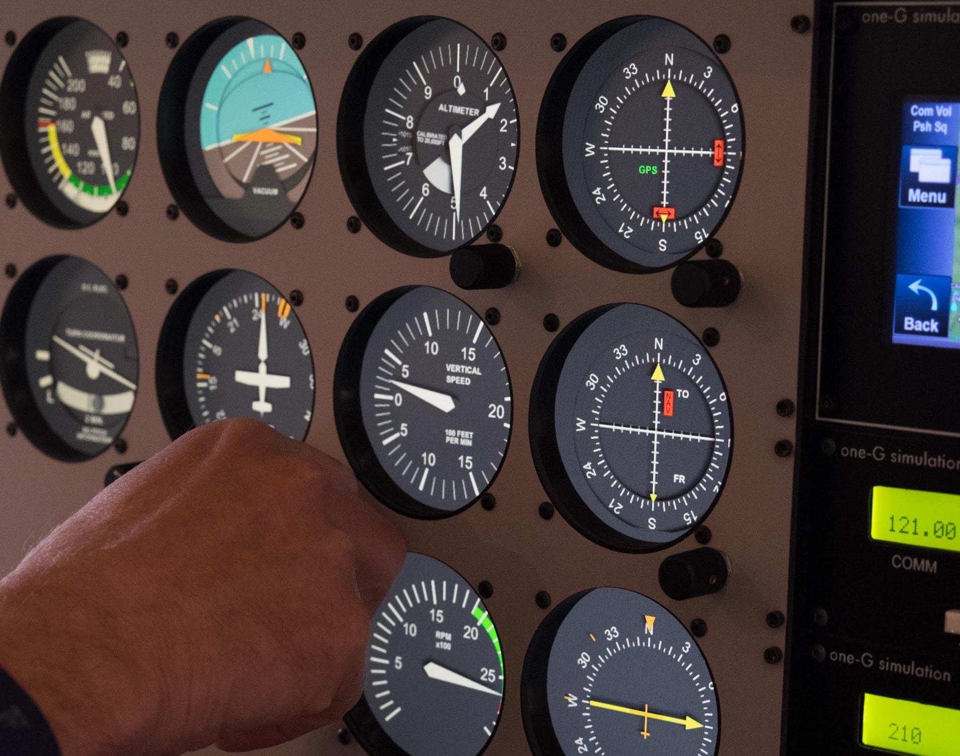 Photo of the Code 1 flight simulator