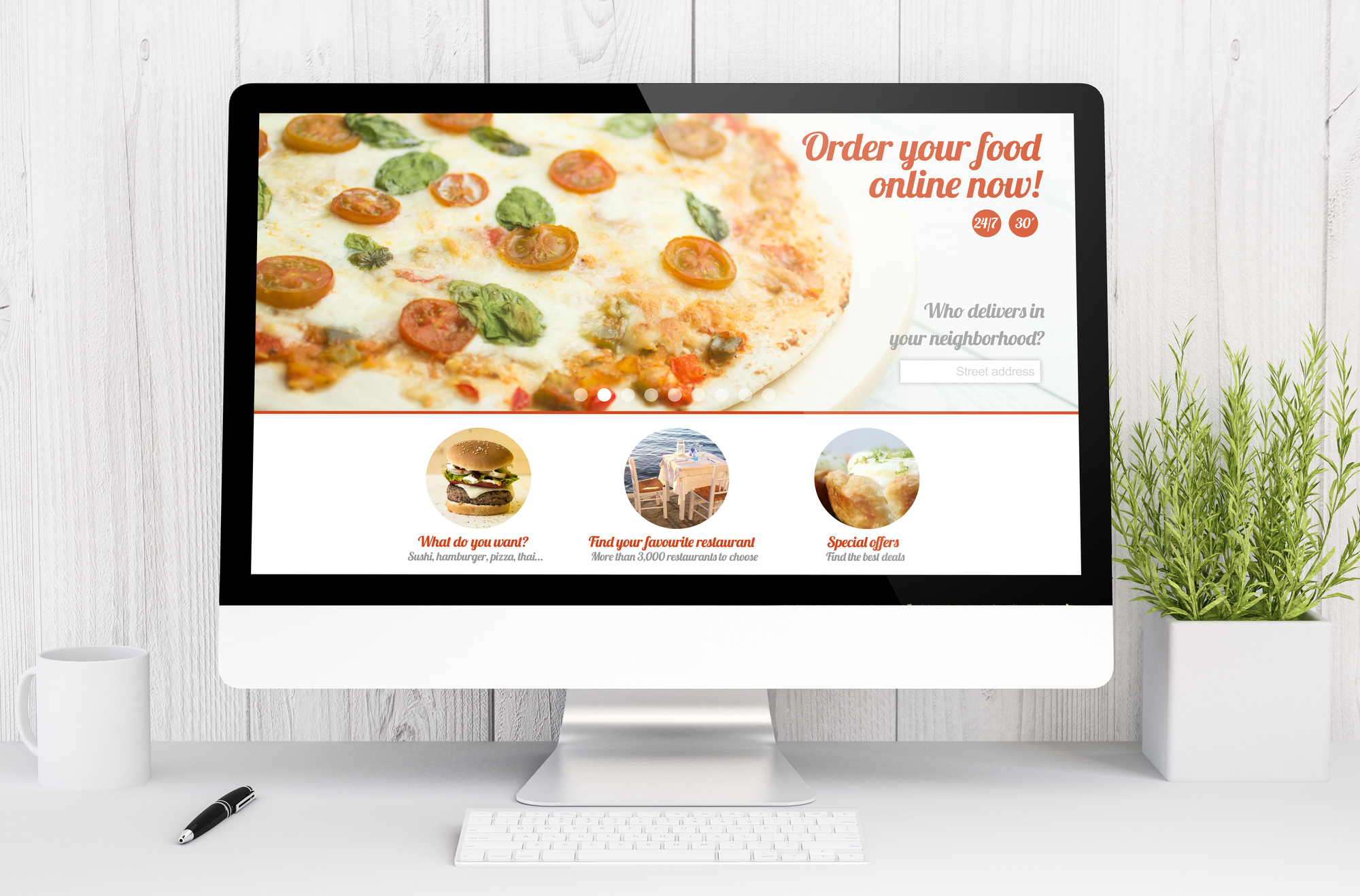 Pizza restaurant website