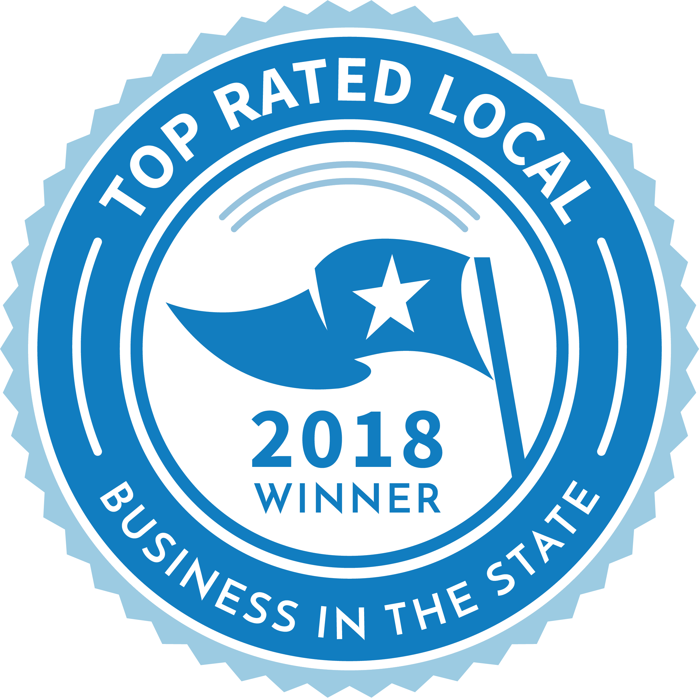 Voted top rated local business in the state 2018