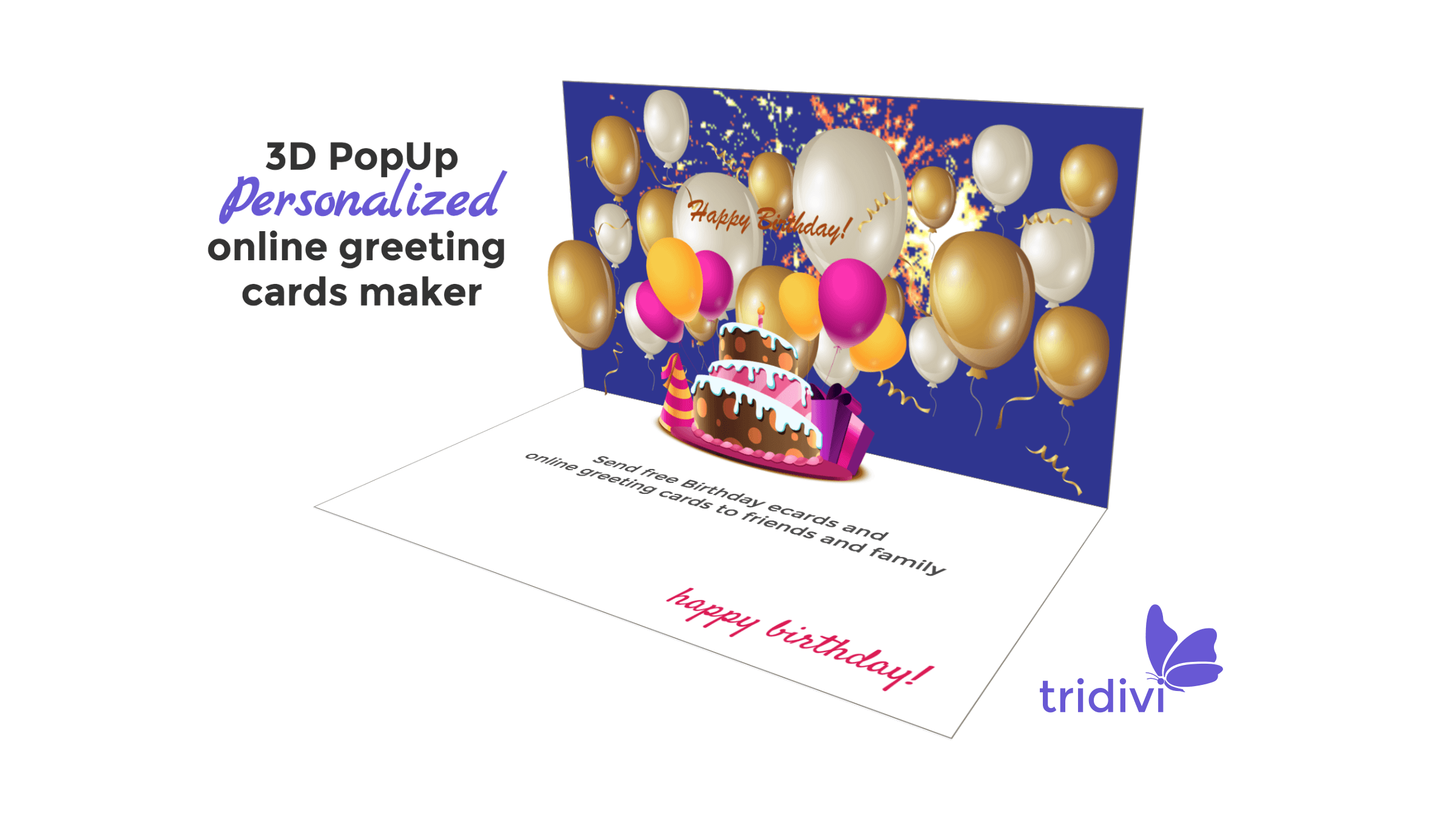 Free 5D Pop Up Online Greeting Card Maker - tridivi™