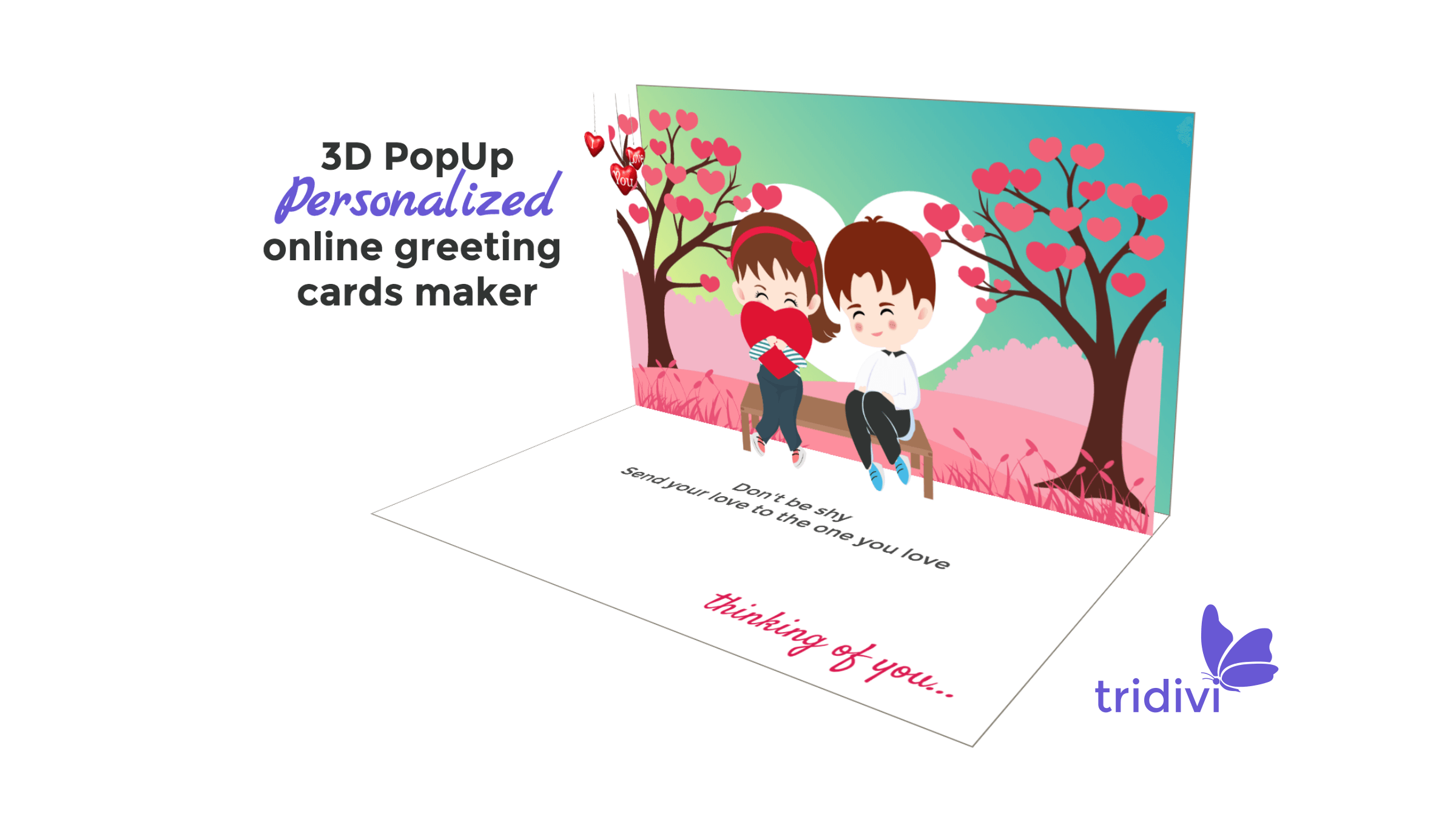 3D Pop Up I Love You greeting cards and ecards