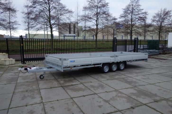 Hulco Medax plateauwagens 3 asser 600x220cm *Nieuw Voorraad*