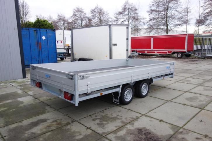 Hulco Medax plateauwagens 2 asser 405x203cm *Nieuw Voorraad