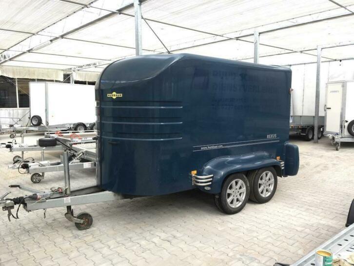 Humbaur Rexus Polyester gesloten aanhangwagen met klep 2013