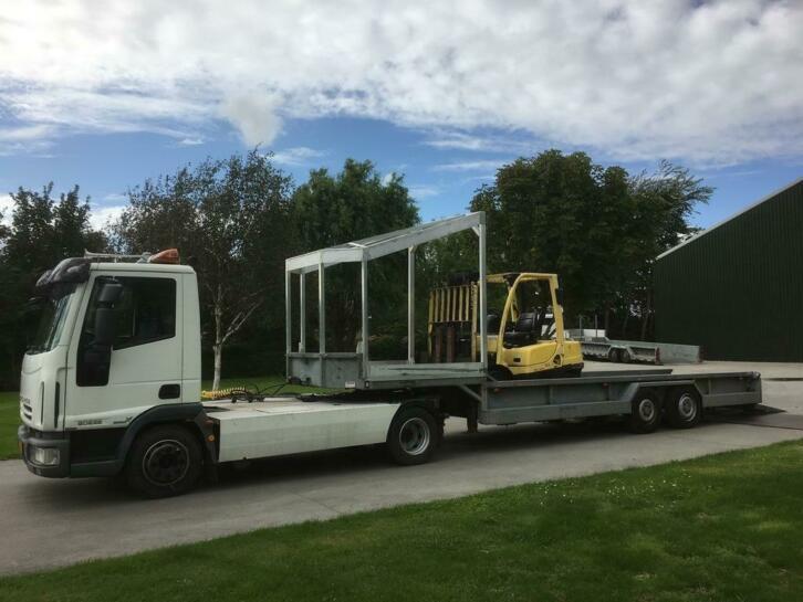 iveco trekker 18 tonner euro 5 + veldhuizen heftruck trailer