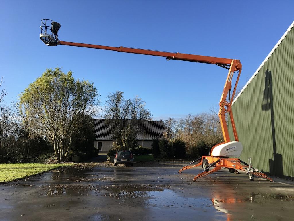 Aanhangwagen hoogwerker 21 knik telescoop