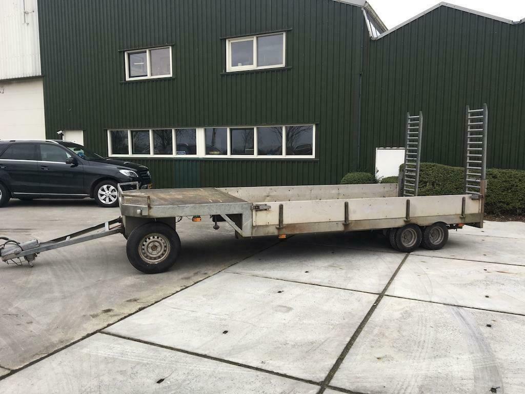 Verdonk 3 assige schamelwagen Semi dieplader oprijwagen