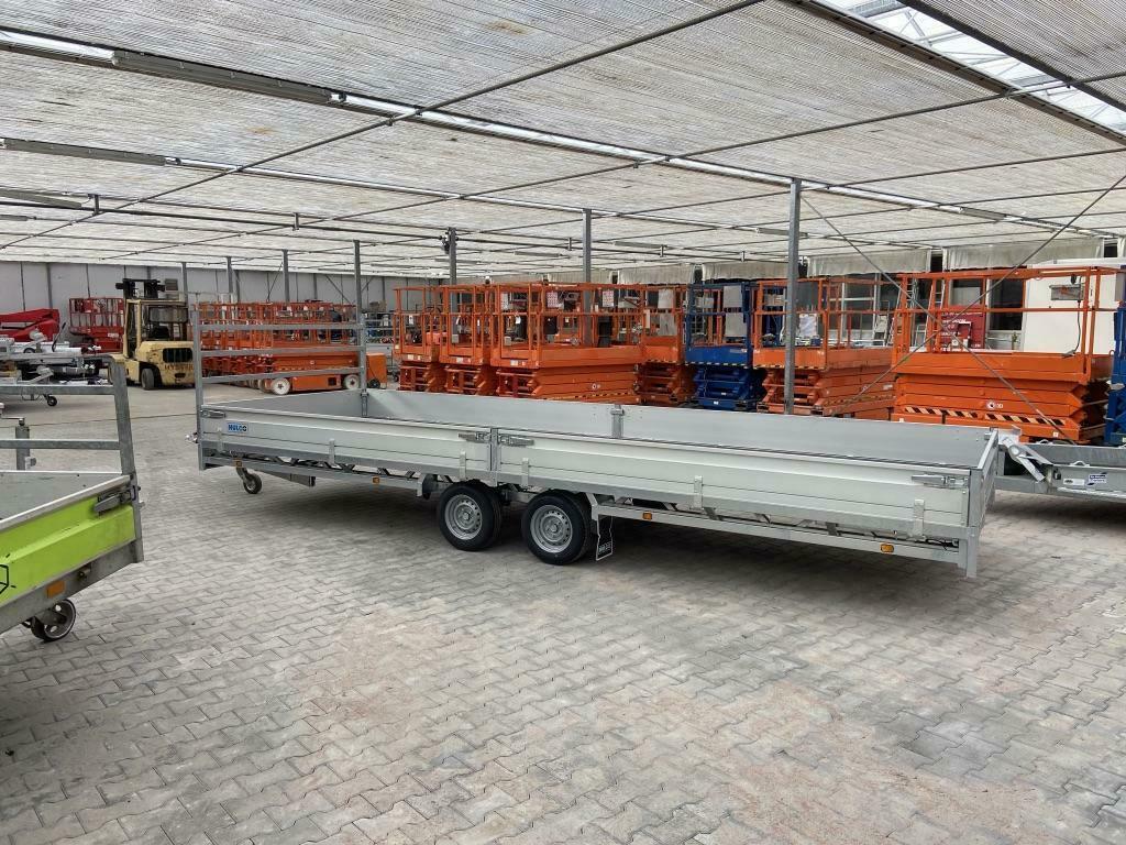Hulco Medax 2 asser plateauwagen 6M  611 x 203 cm