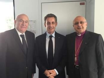 زيارة رئيس مجلس ادارة مستشفى المشرق انطوان معلوف لالرئيس الفرنسي السابق نيكولا ساركوزي