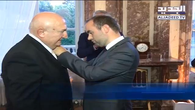 فرنسا تمنح رئيس مجلسِ إدارة مستشفى المشرق الدكتور أنطوان معلوف وسام جوقة الشرف