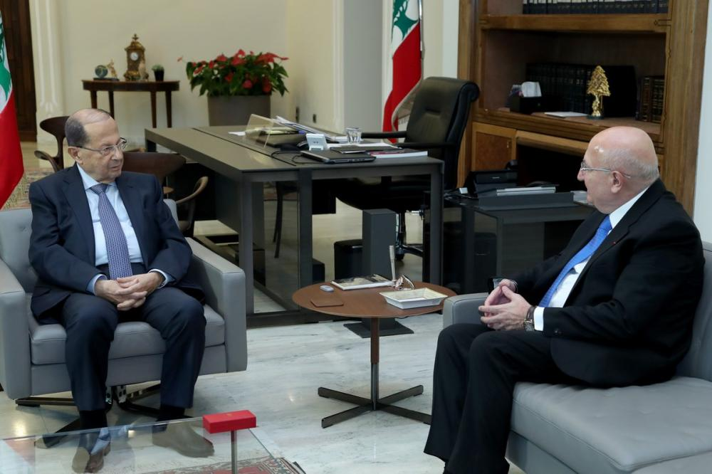 President Aoun received Dr. Antoine Maalouf